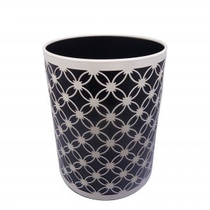 Black/white pattern bathroom wastebasket from lifeholy