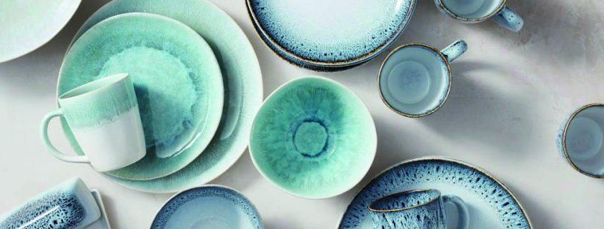 Reactive Glazed Stoneware Dinnerset